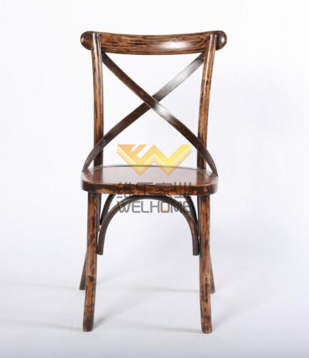 Cross back dining chair for restaurant / home